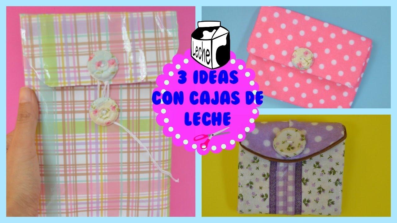 3 Ideas Con Reciclaje Manualidades Con Cajas De Lechecuriosidades De Gina