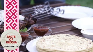 Grilled sheep's liver & Caucasian cheese in mountain paradise - Taste of Russia Ep.14