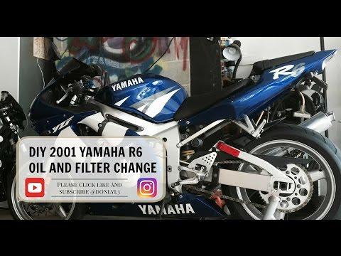 How to: 2001 2002 Yamaha R6 Oil Change