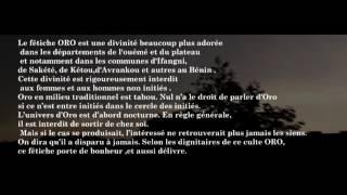 Le son de la divinité Oro au Benin