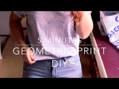 DIY: Quick 5 minutes geometric print Tee