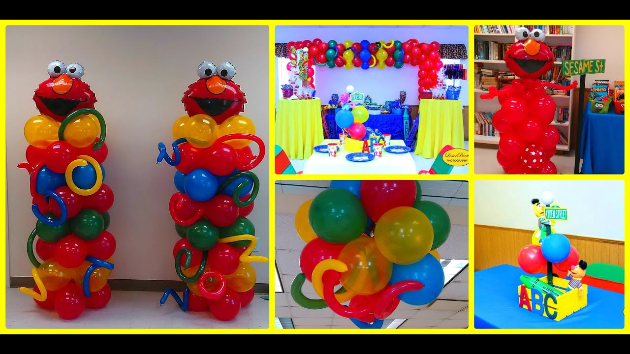 How to do a sesame street birthday party youtube solutioingenieria Image collections