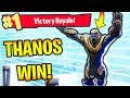 *NEW THANOS WIN* IN FORTNITE BATTLE ROYALE!! (New Fortnite Update: Thanos Win Gameplay)