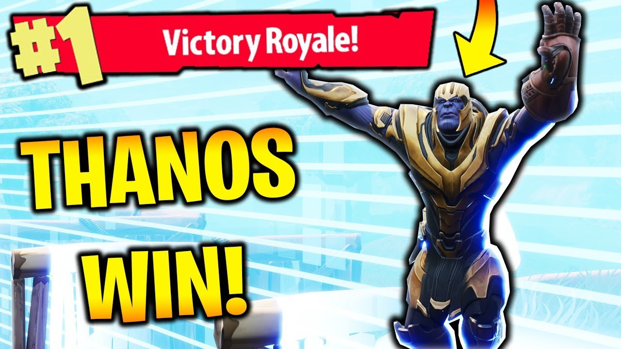 New Fortnite Update Thanos Win Gameplay
