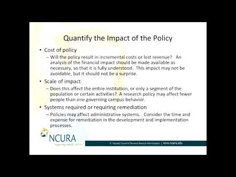 Quantifying the Impact of a Policy - Part 3 of 3: Systems Required