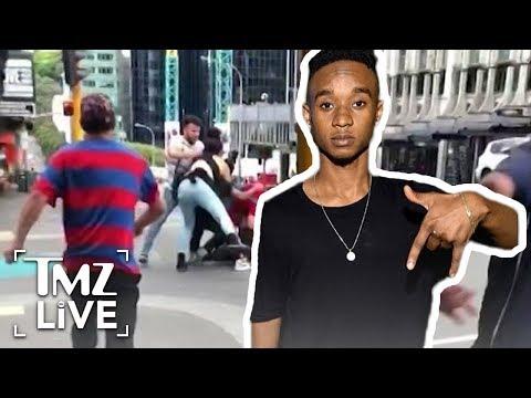 Crazy Street Brawl Involving Rae Sremmurd Star! | TMZ Live