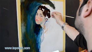 Klimt - Portrait of a Young Woman | Art Reproduction Oil Painting
