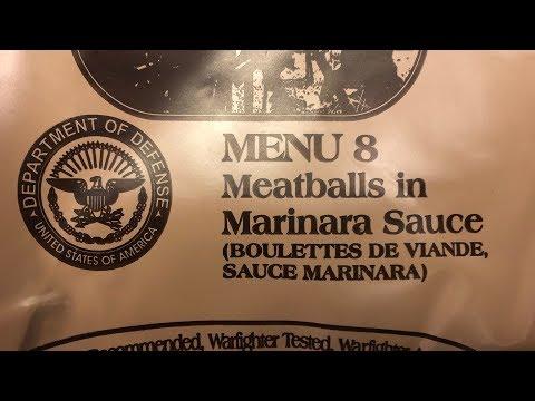 MRE: Marinara Sauce with Meatballs Menu #8 2018