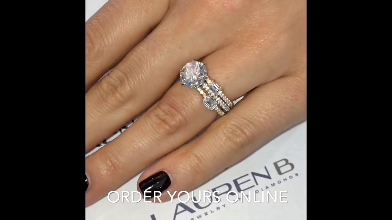270 ct Round Diamond Super Stackable Wedding Ring YouTube