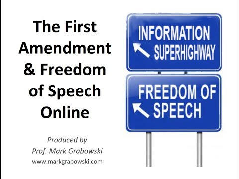 Freedom of Speech Online
