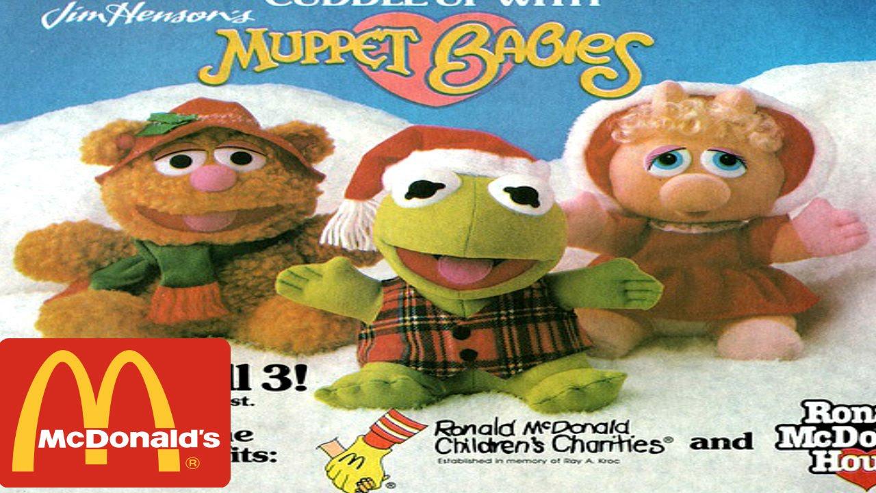 cajita feliz mc donalds con peluches de baby muppets 1990