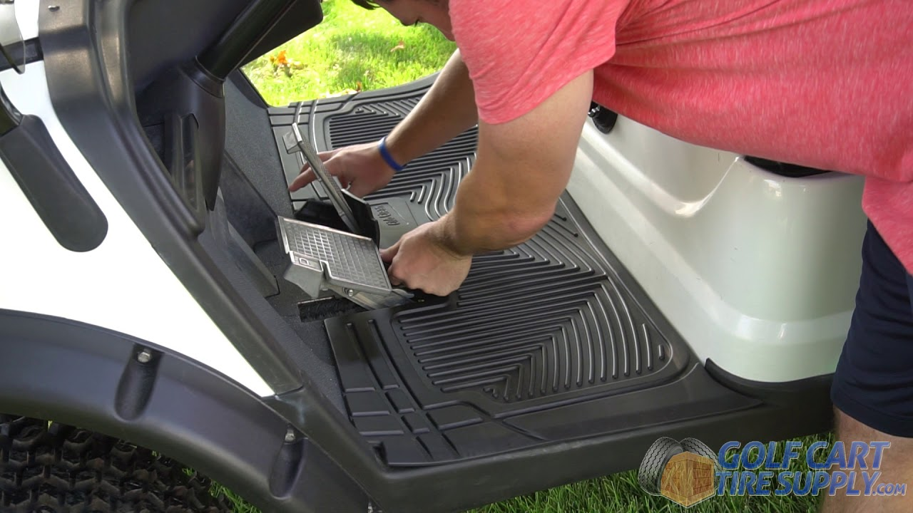 Club Clean Golf Cart Floor Mats For Club Car Ds Precedent Youtube