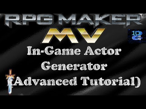 RPG Maker MV In-Game Actor Generator Advanced Tutorial