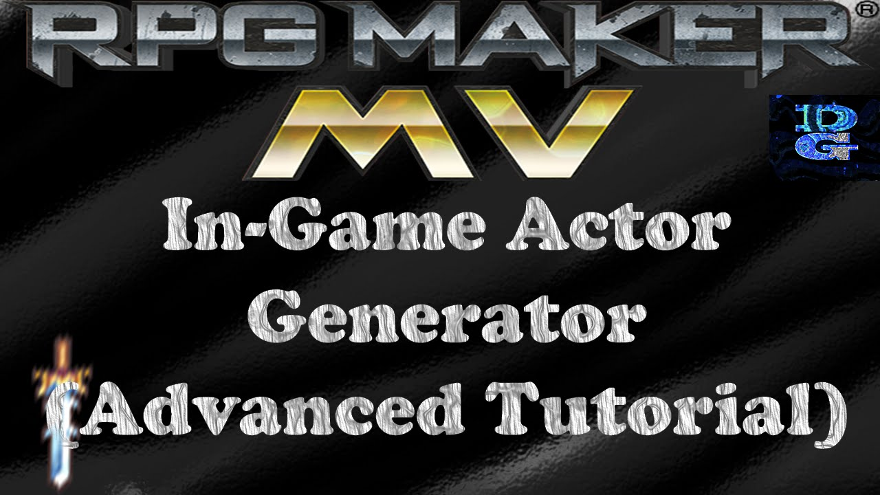 Steam Community :: Video :: RPG Maker MV In-Game Actor Generator