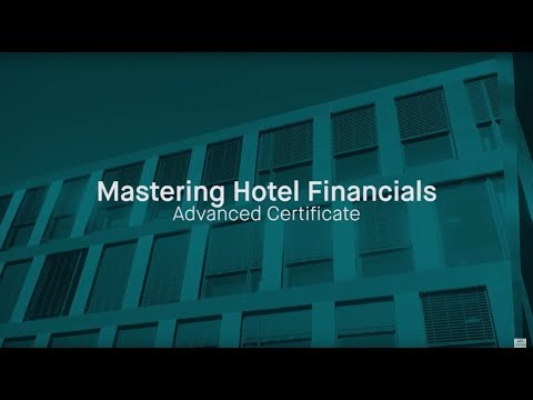 Mastering Hotel Finance | Online Advanced Certificate | Executive Education