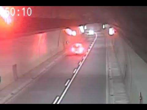 八卦山隧道玩命迴轉2次 逆向女三寶:以為開錯方向