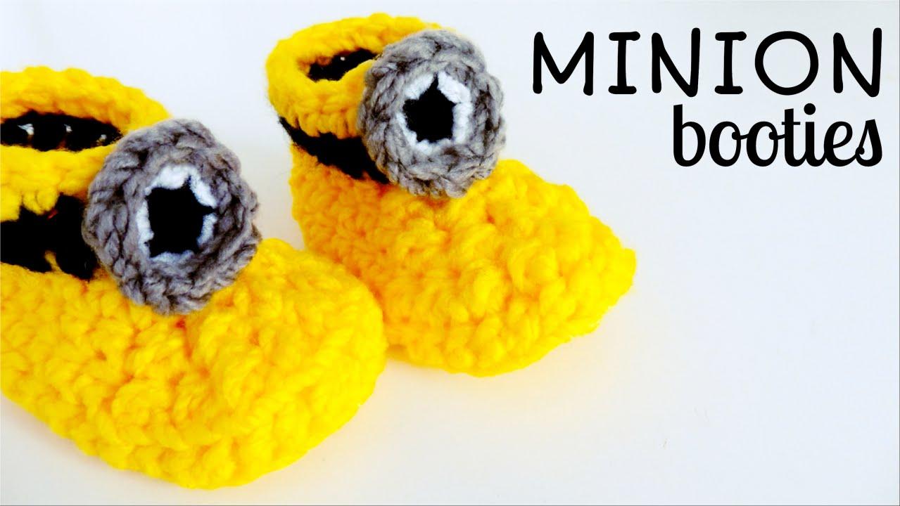How to crochet MINION SLIPPERS (easy crochet booties) ♥ CROCHET ...