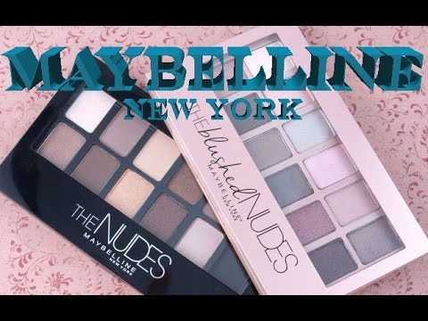 "Обзор палетки от MAYBELLINE ""The BLUSHED Nudes"" 