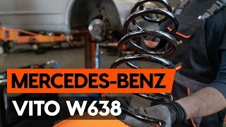 Veren vóór links rechts monteren MERCEDES-BENZ VITO Box (638): gratis video