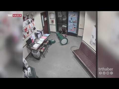 Hayvan barınağına giren hırsız, sakız makinesini çaldı.