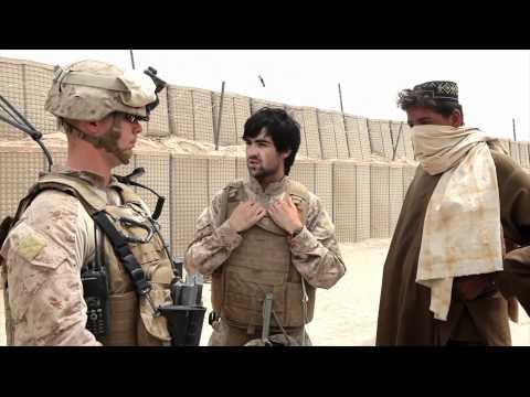 Marines patrol with Afghan National Army soldiers