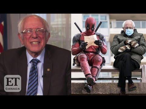 Bernie Sanders Reacts To Inauguration Memes Youtube