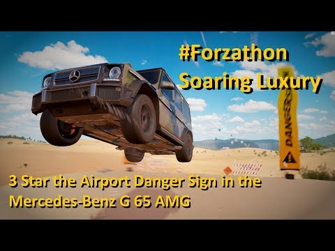 3 Star the Airport Danger Sign in the Mercedes-Benz G 65 AMG to win the Lamborghini Huracàn HE