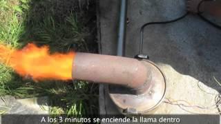 quemador de aceite vegetal usado o aceite mineral usado