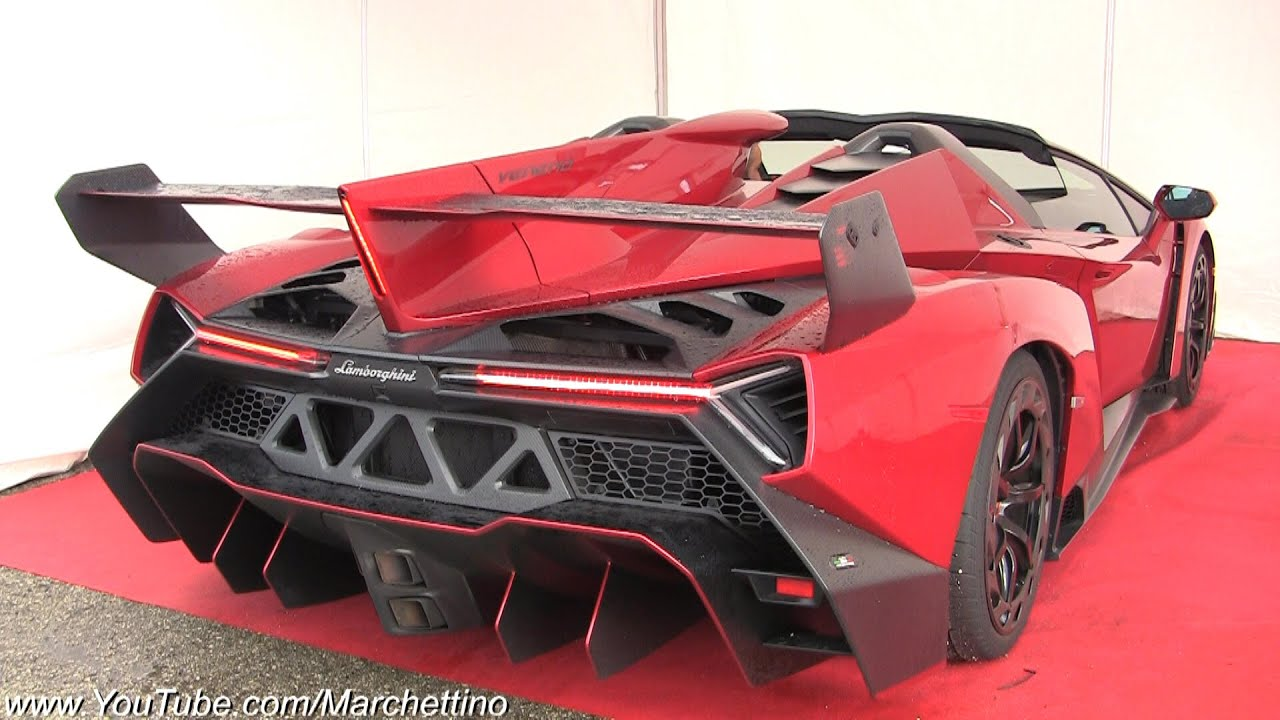 Lamborghini Veneno Exhaust Sound - Start, Rev & Accelerations!