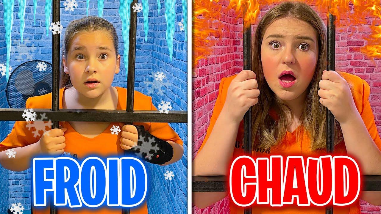 Chaud VS Froid Prison Challenge !