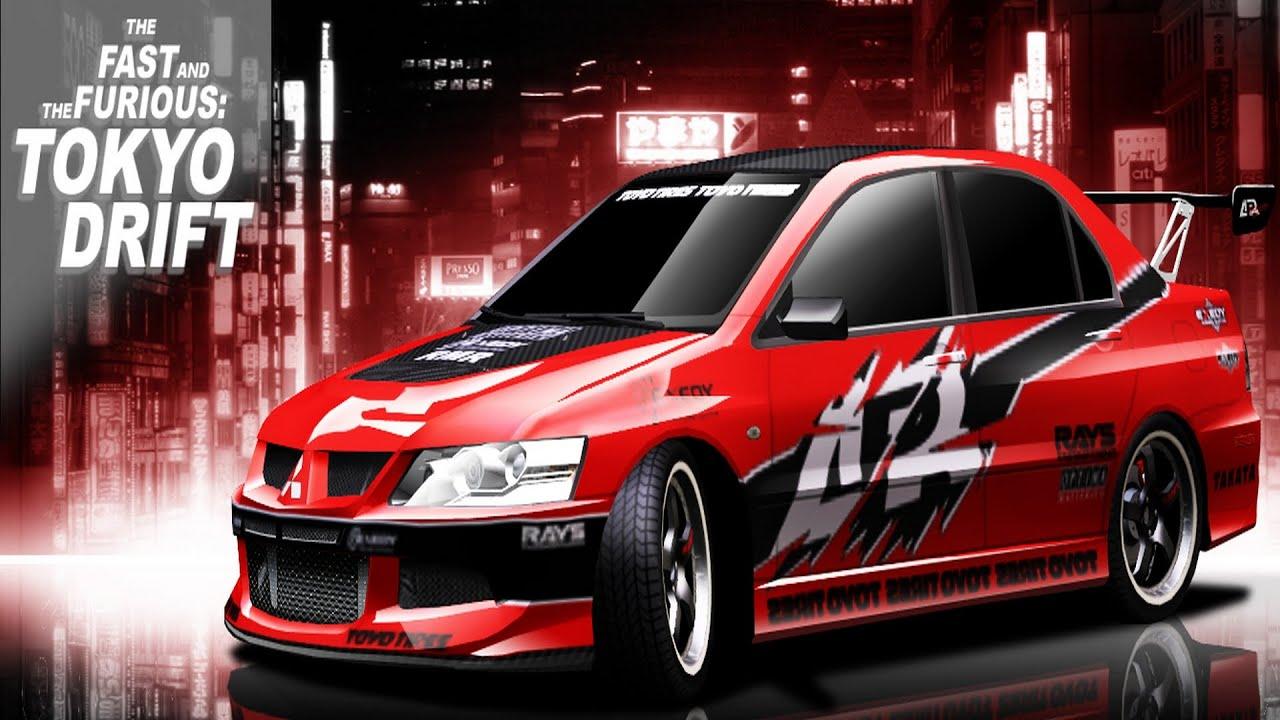 Fast And Furious Tokyo Drift Docks Movie Scene Mitsubishi Lancer