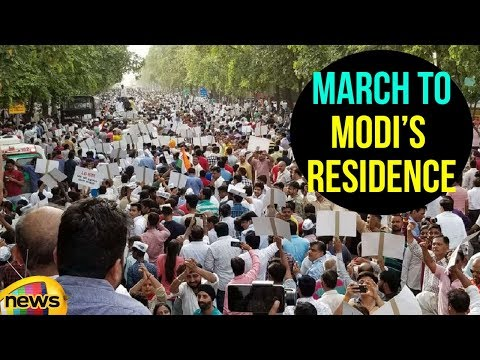 AAP Leaders Protest March to Narendra Modi's residence | AAP Dharna News Updates | Mango News