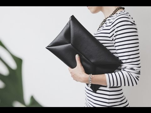 DIY envelope clutch video tutorialYouTube
