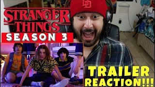 STRANGER THINGS SEASON 3 | TRAILER REACTION & REVIEW!!!