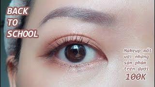 📚 EYE MAKEUP BACK TO SCHOOL | Trang điểm mắt với những sản phẩm khoảng 100k | Chanchan eyemakeup