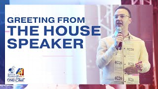 Greeting from the House Speaker | JIL Church 41st Anniversary