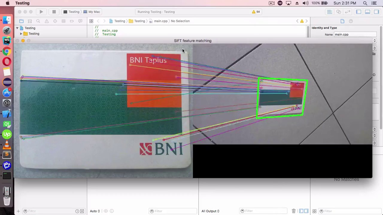 SIFT feature matching opencv