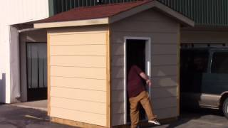 Man Building Tiny House In South Wichita Lot