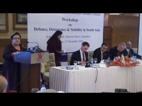 CISS-IISS Workshop on Defence, Deterrence and Stability in South Asia 2016 P-12