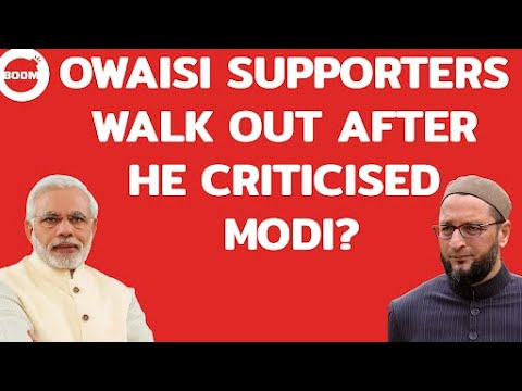 Owaisi Supporters Walk Out After He Criticised Modi?