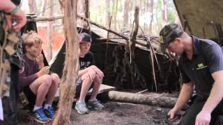 Kids vs Wild Bush Survival Training