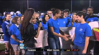 MyTV9 Star, Tulin, Covering the W.Haven HS Football Game