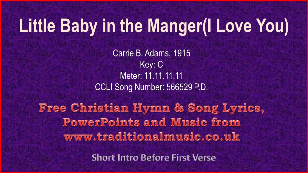 Little Baby In The Manger(I Love You) - Christmas Carols Lyrics ...