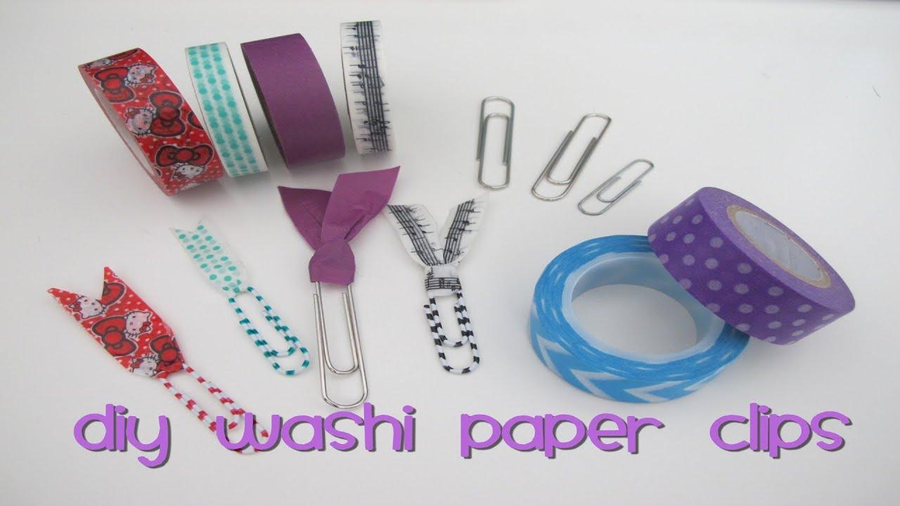 DIY Washi Paper ClipsYouTube