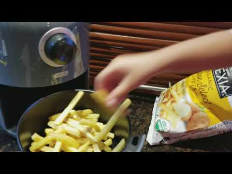 Dash Compact Air Fryer Tutorial By  4 Years Old 'Shaivi' Her Favorite French Fries In 12-15 Mins