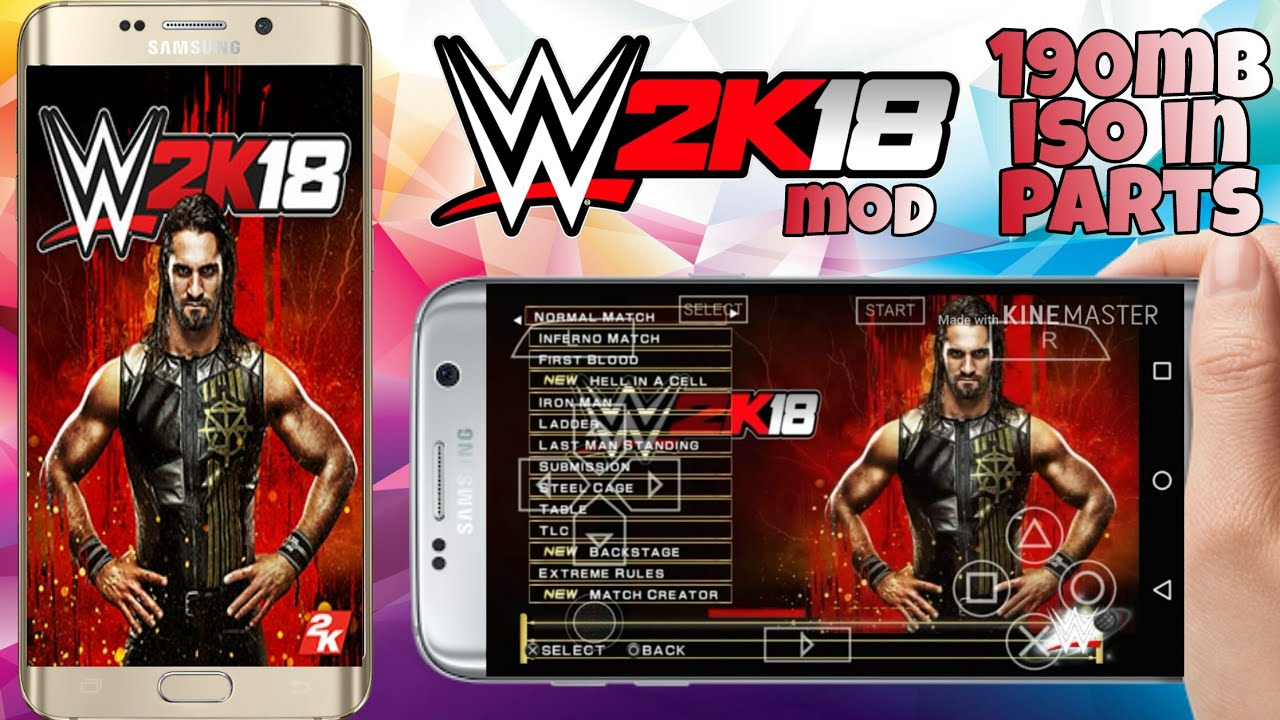 200Mb High compressed || WWE 2K18 DOWNLOAD ON ANDROID || PPSSPP MOD DATA  PROOF WITH GAMEPLAY