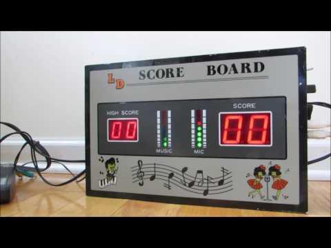 Electronic Karaoke Score Board Demonstration