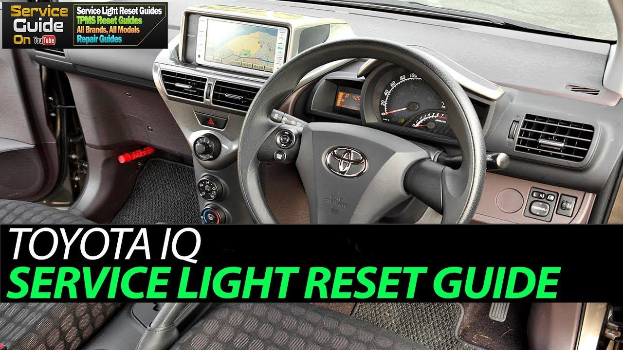 Toyota Iq Service Light Reset Youtube