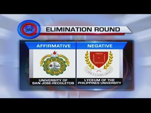 Lyceum Law vs. San Jose-Recoletos Square Off Debates Season 10 Preliminary Rounds