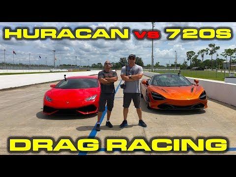 AWD vs RWD Supercar Battle - McLaren 720S vs Lamborghini Huracan Drag Racing